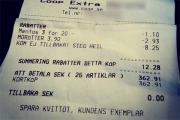 В шведском супермаркете выдавали чеки с нацистским лозунгом