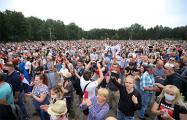 «Немецкая волна»: Атмосфера на митинге в Минске сложилась праздничная