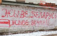 Партизаны украшают Серебрянку патриотичными граффити