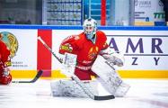 Беларусь — Словакия: Шостак в шлеме с «капустой» пропустил три шайбы за 11 минут