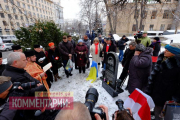 В центре Киева открыли памятник Михаилу Жизневскому (Фото)