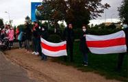 Минчане вышли на акцию солидарности в районе станции метро «Малиновка»