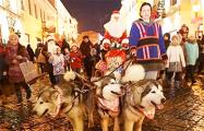 Видеофакт: В Гродно прошло карнавальное шествие Дедов Морозов