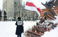 Нина Багинская вышла к Красному костелу в Минске