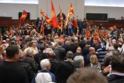 В парламент Македонии ворвались протестующие после избрания албанца спикером