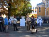 В центре Бреста установили огромные портреты похищенных политиков