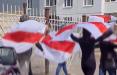 Партизаны Минска вышли на улицу со смелым плакатом
