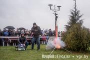 Новогодние ракеты над Гродно: лошадь потеряла голову, а елка пикировала в толпу