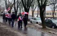 Минские районе Розочка и Грушевка вышли на совместный марш