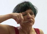 Австралийская актриса в Минске зашила себе рот (Видео)