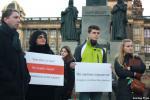 Белорусы и украинцы провели акцию в центре Праги