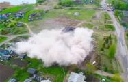 Видеофакт: в Ушачском районе работники МЧС взорвали Дом культуры