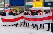 Белорусы пикетировали офиса компании YARA в Киеве