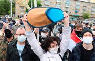 Как пикеты в Минске и Бресте выглядят с высоты