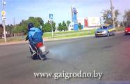 Гродненский мотоциклист убегал от погони ГАИ по тротуарам и полям