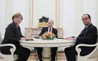 Меркель, Олланд и Путин проводят переговоры по Украине