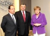 Меркель, Олланд и Порошенко обсудили ситуацию в Украине