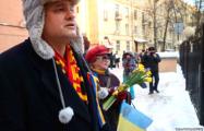 Петербуржцы поздравили украинцев с годовщиной Майдана