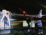 Самолет «Белавиа» выехал за пределы ВПП в Жулянах и помял фонари