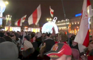 Белорусы идут на площадь Независимости