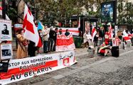 В Париже прошла акция солидарности с Беларусью