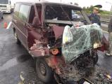 Авария на МКАД: автобус «догнал» цементовоз