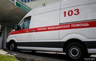 Фотофакт: Из РОВД Полоцкого района забирали человека с подозрением на коронавирусом