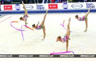 Белорусcкие гимнастки cтали чемпионками Европы в упражнении с пятью лентами