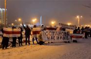 Около 30 партизан устроили акцию протеста возле Стелы