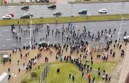 Каратели пытались разогнать протестующих в Каменной Горке, но они снова собрались