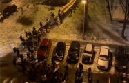 Партизаны Минска идут маршем по улицам города