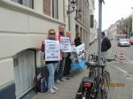 В Гааге пикетировали белорусское посольство