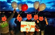 Дети из поселка Новобелица провели креативную акцию в честь дня матери