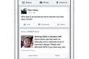 Facebook покажет в ленте новостей сообщения о пропавших детях