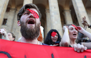 Протестующие в Грузии требуют отставки министра МВД