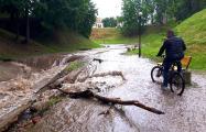 Фотофакт: Гродно подтопило, а в Слониме выпал град