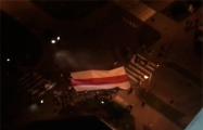 Жители Степянки прошли дворами с большим национальным флагом