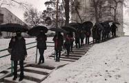 Жители улицы Ангарской в Минске вышли на акцию солидарности с политзаключенными