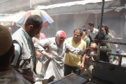 Сирийский армейский вертолет разбомбил лагерь беженцев