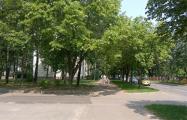 В Минске под здание милиции, прокуратуры и ГАИ вырубают сквер