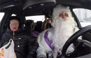 Дед Мороз бесплатно развозил мерзнущих минчан и откапывал машины