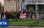 В Заславле люди тоже вышли на улицы