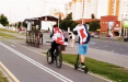 Видеофакт: Велопробег под бело-красно-белыми флагами