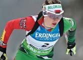 Домрачева пришла второй в спринте в Холменколлене