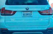 В Гродно сфотографировали BMW X5 с калифорнийскими номерами