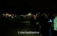 В парке Дружбы народов минчане вышли на ночной митинг