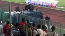 Футболисты из Ганы спасались от фанатов на броневике
