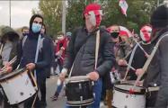 Воскресный Марш в Минске проходит под бой барабанов