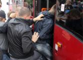 Оппозиционера задержали за акцию напротив КГБ