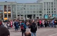Видеофакт: Атмосфера на площади Независимости в Минске